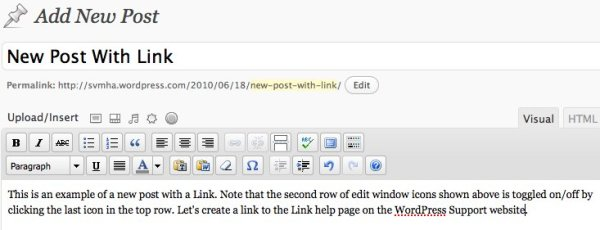 New Post With Link - step 2